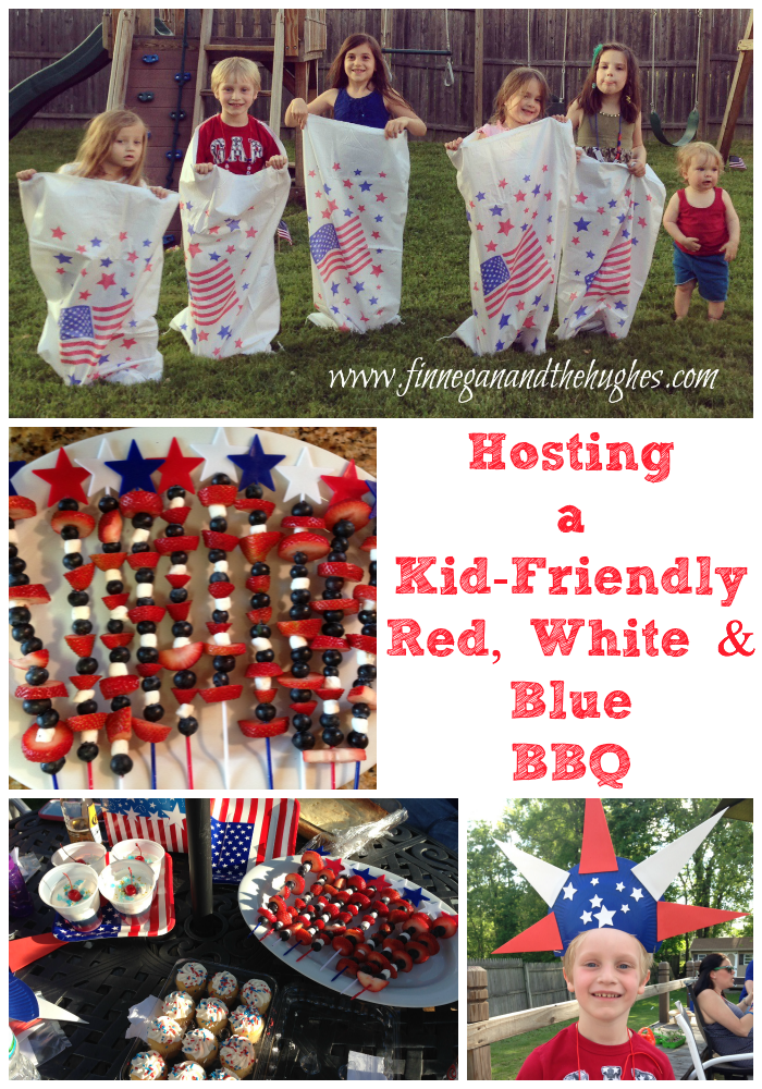 Hosting a Kid Friendly Red, White and Blue BBQ