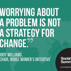 Worrying About A Problem is Not a Strategy For Change