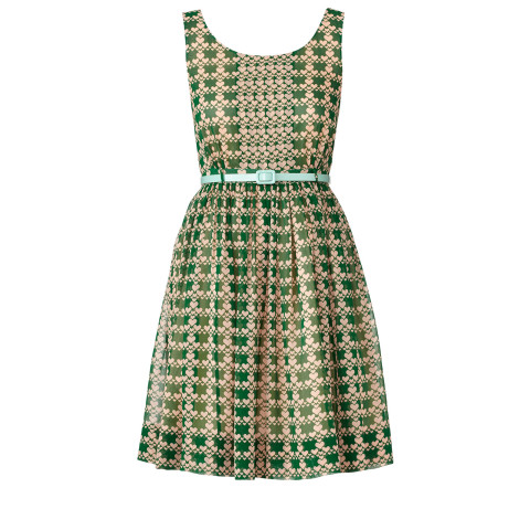 Orla Kiely Houndstooth Heart Dress