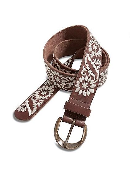 Lucky Brand Bella Woodblock Belt