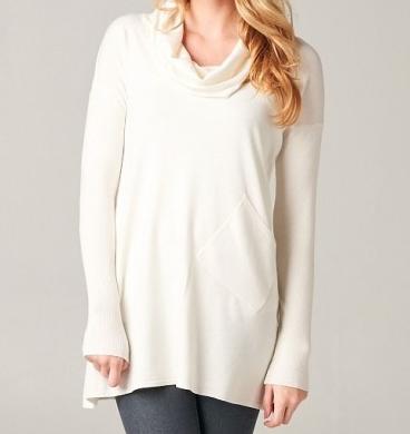Roe Boulevard Ivory Sky Tunic Sweater