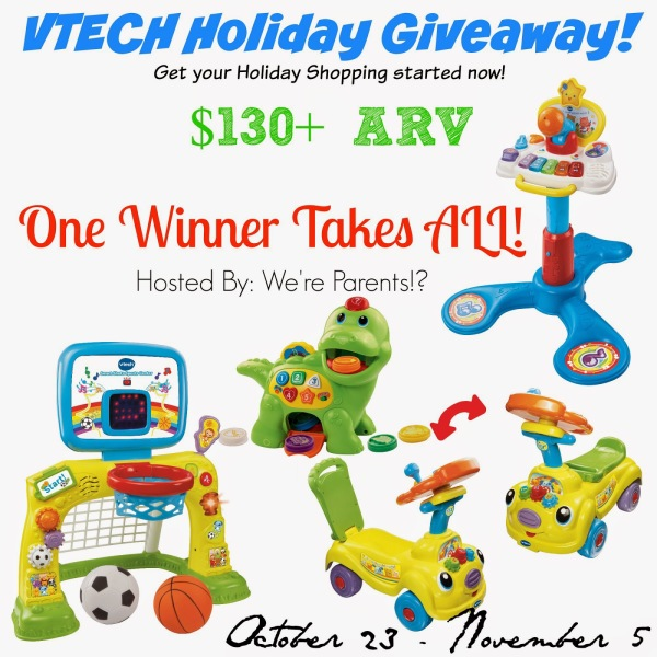 VTECH HOLIDAY GIVEAWAY {ONE WINNER FOUR GREAT TOYS}