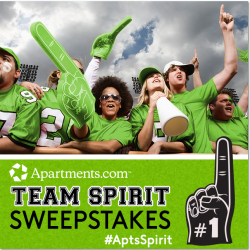Apartments.com Team Spirit Sweepstakes #ApsSpirit