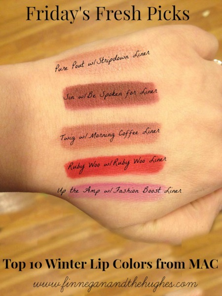 Top 10 Winter Lip Colors from MAC1