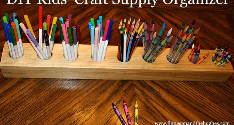 DIY Kids' Craft Supply Organizer!