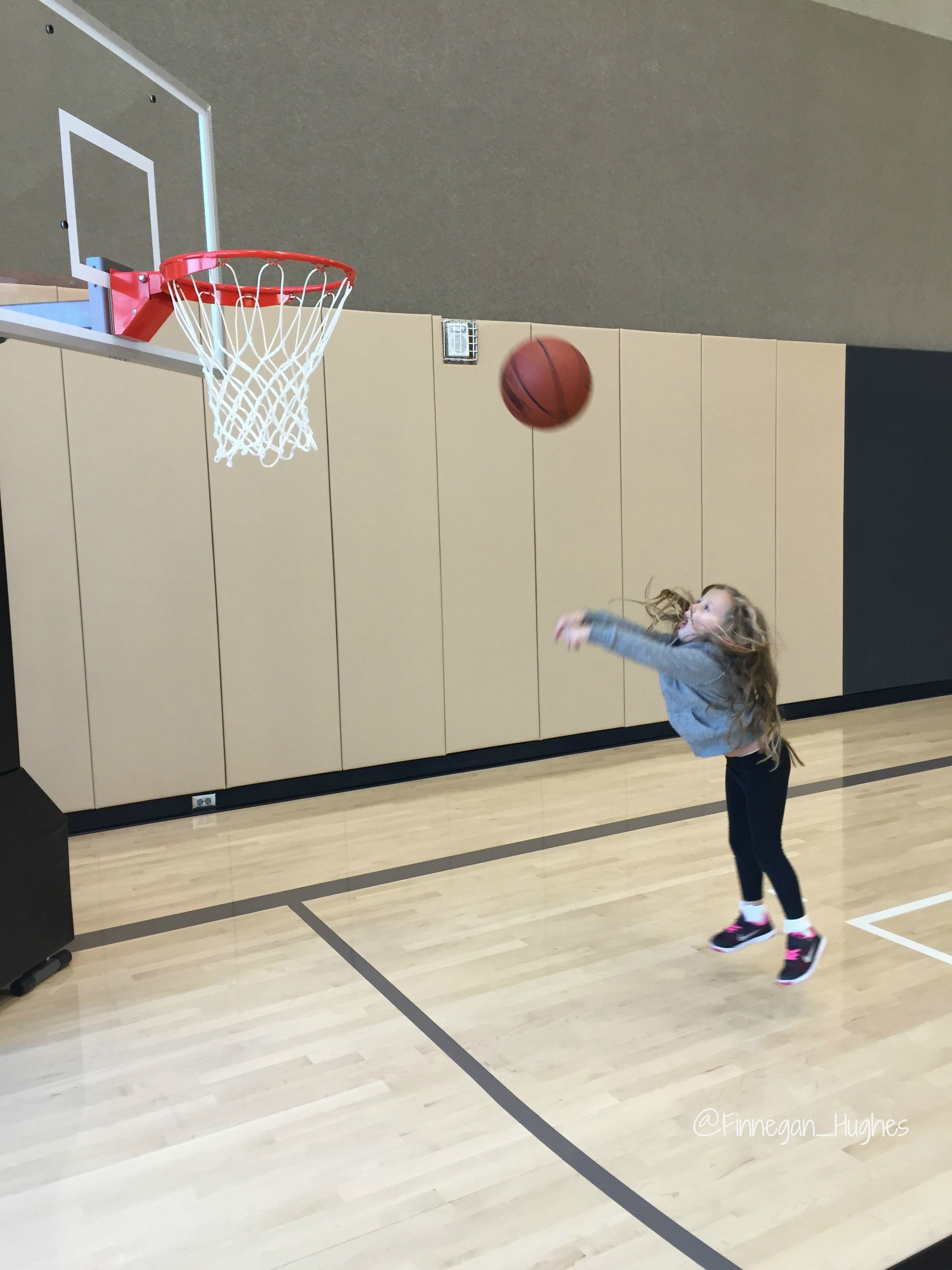 Hayley Shooting Hoops at Life Time Athletic