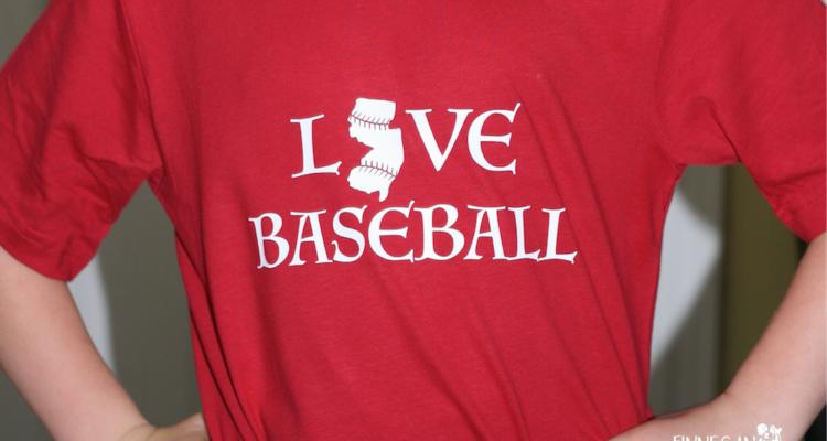 New Jersey Themed Baseball Shirt (Free SVG Download)