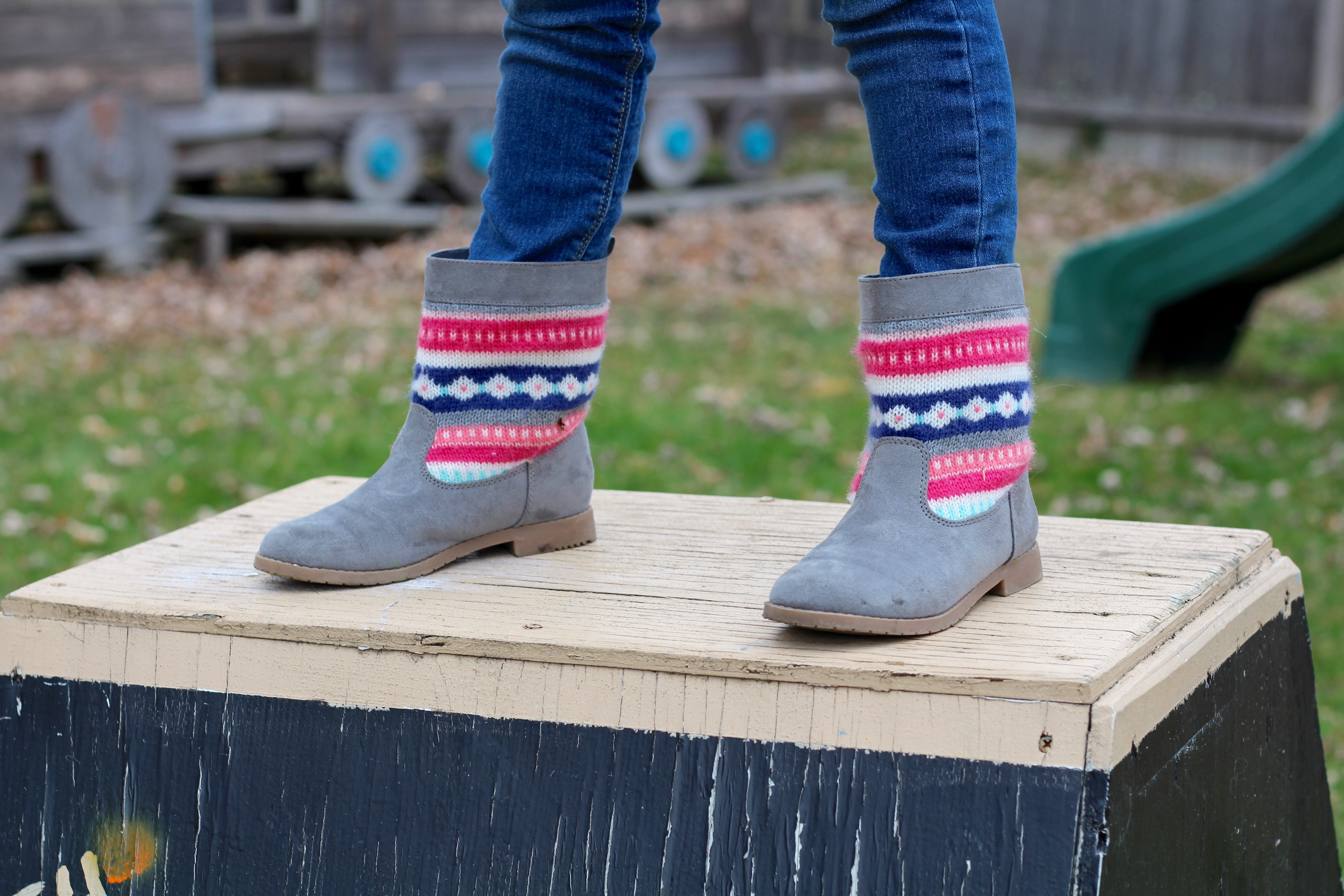 Fair Isle boots from Gymboree