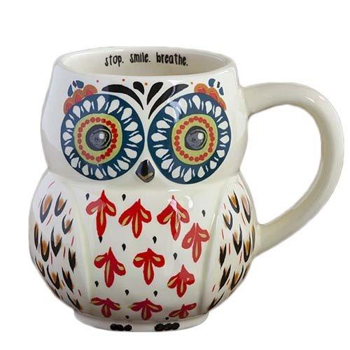 natural life owl mug