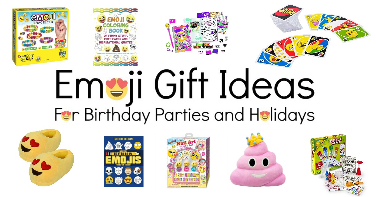 Emoji Gift Ideas for Birthday Parties and Holidays