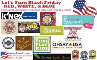 23 Blogs, Let's Band Together to Turn Black Friday Red, White, & Blue! {Giveaway}