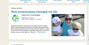 Guest Post on Baby Center