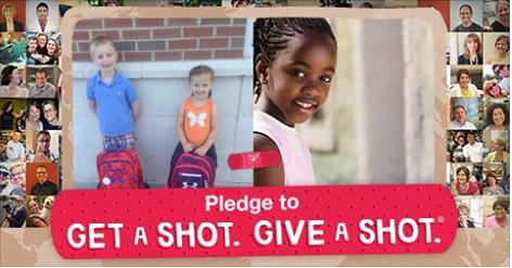 Get a Shot Give a Shot #GiveaShot