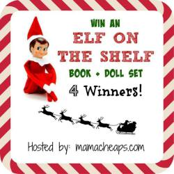 Elf on the Shelf Holiday Giveaway – (4) Elf + Book Sets, (2) $25 Gift Certs to Elf Outfitters