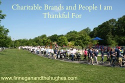 Charitable Brands and People I am Thankful For