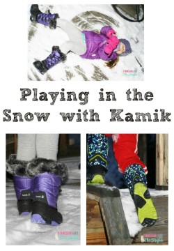 Mini Fashionistas: Playing in the Snow with Kamik