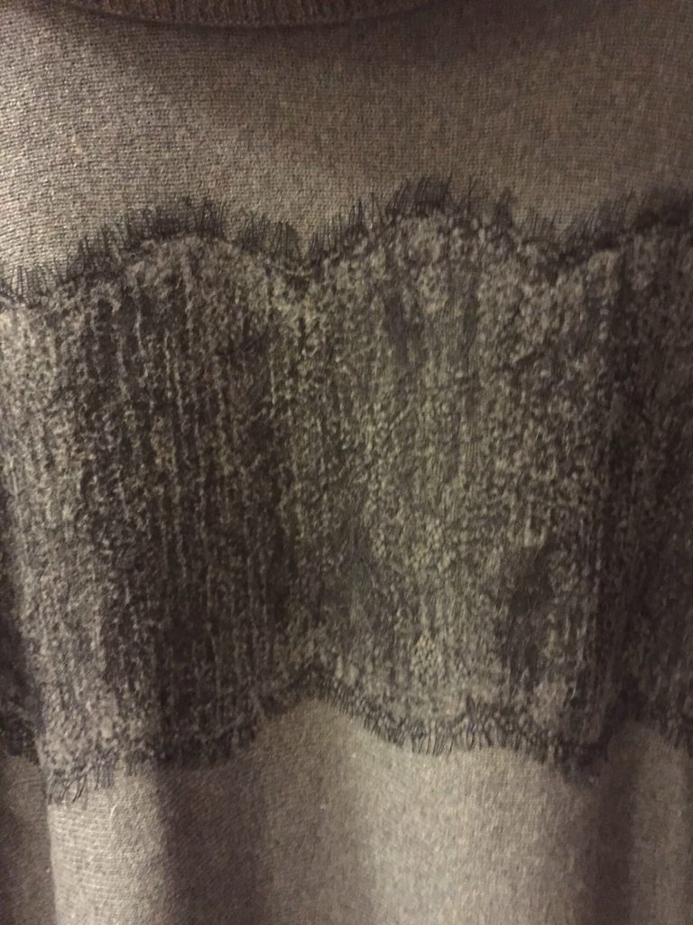 Colourworks Gerda Lace Detail Pullover Poncho 2
