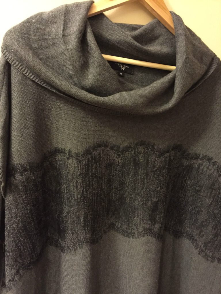 Colourworks Gerda Lace Detail Pullover Poncho 3