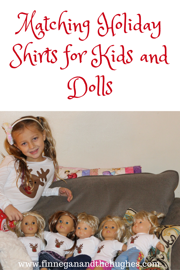 Matching Holiday Shirts for Kids and Dolls (Plus a Heat Press Giveaway!)