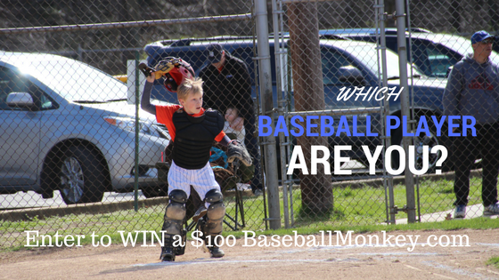 WHICH BASEBALL PLAYER ARE YOU? {enter to WIN $100 to BaseballMonkey.com}